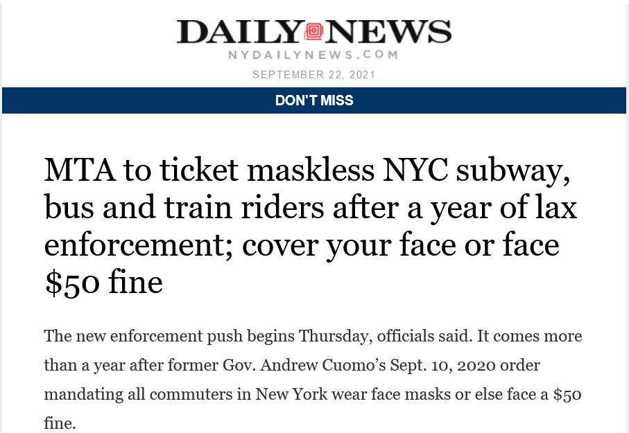 Screenshot 2021-09-23 at 13-39-50 Fwd MTA to ticket maskless NYC subway, bus and train riders after a year of lax enforceme[…]